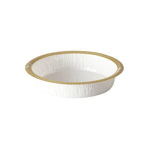 エコライト S丸型(白/フランジ金) 25枚入 タルト型 12cm 15cm , ホールケーキ型 , スポンジケーキ EL01-25