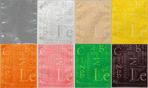 ラッピング袋 (8色) 各5枚入 カットパウンドケーキ対応/エージレス対応/アソート 小分け袋 , 焼菓子袋 , ラッピング小分け FU2AS-40