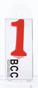 ナンバーキャンドル 1 (パステル) 1本入 キャンドル ケーキ , 数字 , ろうそく , ロウソク , ファースト バースデー KM01-1