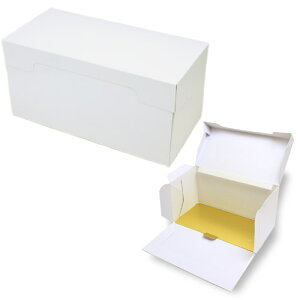 PA21A ロールケーキボックス(白無地)金台紙付き 20枚セットロールケーキをはじめ、マフィンなどの焼き菓子、手作りプリンなどのプレゼントにもピッタリです。