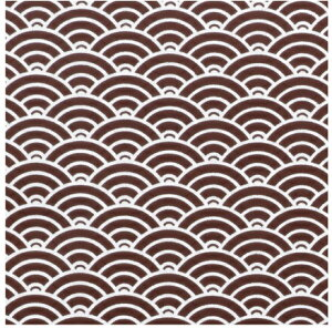 20%OFF CD-T5 チョコレート転写シート 青海波 5枚 25.5×25.5mm チョコレートに彩りを添え、グッとおしゃれになるのがこの転写紙 バレンタイン 1ランク上 インスタ映え 高級チョコ