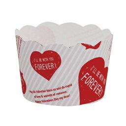 31-844瑪芬茶杯S快樂心(白)4張裝烘烤茶杯紙製焼型蛋糕茶杯禮物給的禮物點心製作製造糕點用品情人節百元店