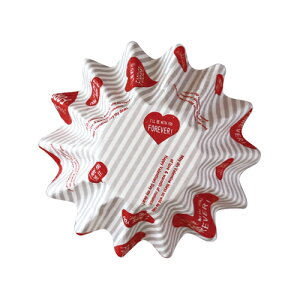 31-846 ペットケーキカップSハッピーハート(ホワイト)10枚入ベーキングカップ 紙製焼型 ケーキカップ ギフト プレゼント お菓子作り 製菓用品 バレンタイン 100円均一