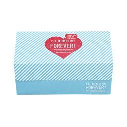 31-850蛋糕箱S快樂心(藍色)1張裝瑪芬箱紙製焼型蛋糕茶杯禮物給的禮物點心製作製造糕點用品情人節百元店