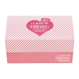 31-851蛋糕箱M快樂心(粉紅)1張裝瑪芬箱紙製焼型蛋糕茶杯禮物給的禮物點心製作製造糕點用品情人節百元店