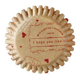 31-860寵物蛋糕茶杯M復古的(紅)10張裝的烘烤茶杯紙製焼型蛋糕茶杯禮物給的禮物點心製作製造糕點用品情人節百元店