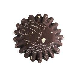 31-861巧克力鬆露茶杯復古的(棕色)20張裝的巧克力茶杯紙製焼型蛋糕茶杯禮物給的禮物點心製作製造糕點用品情人節百元店