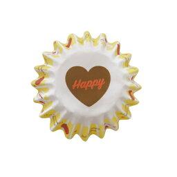 31-871巧克力鬆露茶杯花蛋糕20張裝巧克力茶杯紙製焼型蛋糕茶杯禮物給的禮物點心製作製造糕點用品情人節百元店