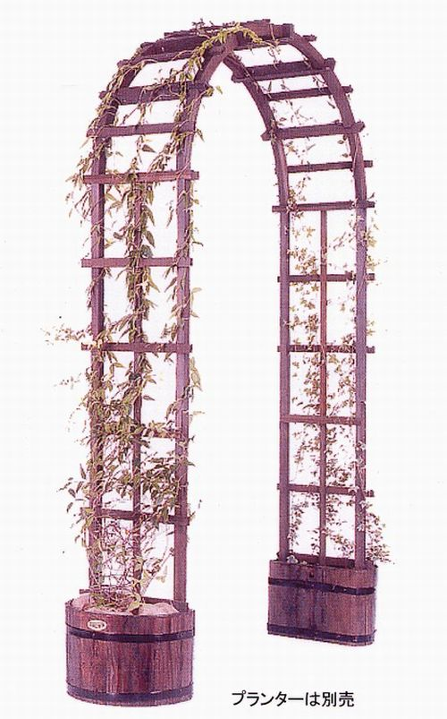 ガーデンアーチ 大 木製 バラ 薔薇 プレゼント付