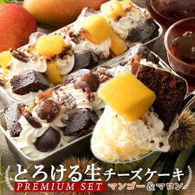 【人気の新食感チーズケーキ!】 とろける生チーズケーキ プレミアムセット 楽天のみで購入できるプレミアム限定商品です [ プレミアムマンゴー & プレミアムマロン ]