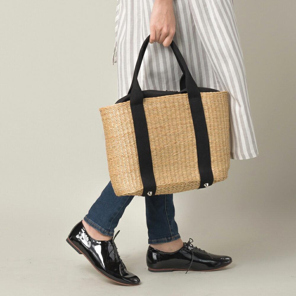 【nina fina】かごバッグ Lサイズ レディース バッグ 小物 BAG 手提げ ハンドメイド 巾着 ETFIL エトフィル