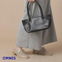 【OMNES】パテントレースアップシューズ靴シューズレディース靴フラットシューズレインシューズおじ靴ブラックグレージュ