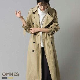 レディース アウター コート 【OMNES】ウォッシュ加工ダンプ ゆるトレンチコート Sサイズ Mサイズ カジュアル