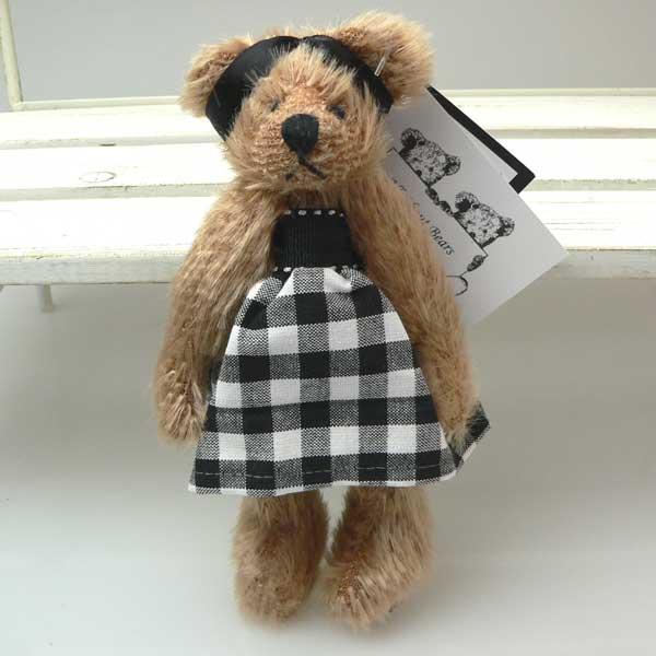 Settler Bears【セトラベアーズ】Chanel可愛いハンドメイドテディベア【テディベア ぬいぐるみ】【テディベア クマ】【くま ぬいぐるみ】【テディベア】【プレゼント】