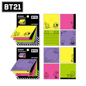 【BT21】 スクエアインデックス付箋【LINE FRIENDS】 KOYA RJ SHOOKY MANG CHIMMY TATA COOKY VAN