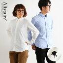 シャツ 長袖 ボタンダウン スリム カジュアルシャツ 配色 刺繍 綿100% オックスフォード 日本製 メンズ レディース …