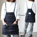 デニム ミニ サロペット スカート エプロン風 8ポケット デザイン ヴィンテージ リメイク 加工 made in japan 日本製 …