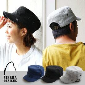 ワーク キャップ スウェット パイル地 レザー ベルト ブラック グレー ネイビー メンズ レディース 帽子 アウトドア 40代 50代 SIERRA DESIGNS [シェラデザインズ]
