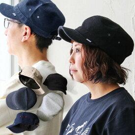 キャップ ワークキャップ 帽子 メンズ帽子 レディース帽子 調整バックル付き ブラック 黒 グレー ネイビー 紺 パイルコットン生地 40代 50代 | カジュアル メンズ レディース ぼうし 小物 アウトドア Well-Tailored [ウェルテイラード]
