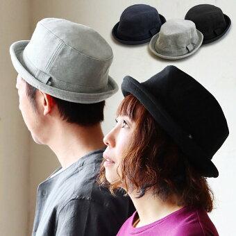 ウェルテイラード(Well-Tailored)  ハット ポークパイ ポークパイハット 帽子 ぼうし ソフト コットンスウェット 裏地付き ツバ狭