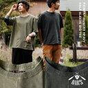 【送料無料】OAR'S[オールズ]5分袖カットソー 五分袖 コットン ルーズシルエット Tシャツ メンズ レディース 大きいサイズ 大きめ 重ね着 無地 半袖t...