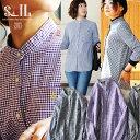 【予約販売】【送料無料】SAIL[セイル]日本製 長袖 シャツ バンドカラー ギンガムチェック柄 プルオーバー コットン 刺繍 レディース …