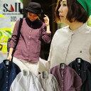 【B-対象無料トップス】【送料無料】 SAIL [セイル] シャツ 長袖 無地 ワンポイント 刺繍 バンドカラー 綿麻 オックス…