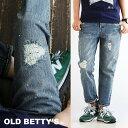 【我が道イズム企画】【送料無料】 OLD BETTY'S [オールドベティーズ] ジーンズ デニム パンツ テーパード アンクル丈…