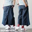 【我が道イズム企画】【送料無料】 OLD BETTY'S [オールドベティーズ] パンツ ガウチョ ガウチョパンツ ワイド クロッ…