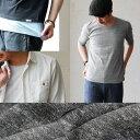【予約販売】【全国一律送料324円】 5分袖 Uネック Tシャツ カットソー TEE メンズ レディース 半端袖 春物 重ね着