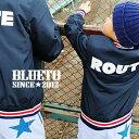 ジャケット スタジアムジャケット スタジャン ブルゾン 3色リブ 薄手 「ROUTE プリント」 キッズ 子供服 130 アウター…