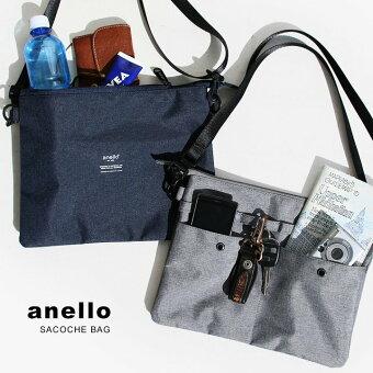 アネロ(anello) サコッシュ ショルダー バッグ 500ml ペットボトル ストラップ 取り外し 可能 ポーチ