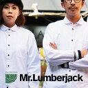 【B-インナー】【全国一律送料324円】 Mr.Lumberjack [ミスターランバージャック] シャツ 長袖 CPO レギュラーカラー 『ストレッチ オックス』 袖リブ切り替え ポケット メンズ