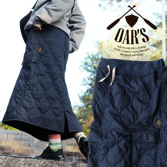 オールズ(OAR'S) スカート マキシ丈 ロング丈 「丈感が選べる」 カーゴ 防寒 暖かい サーモライト ウエストリブ