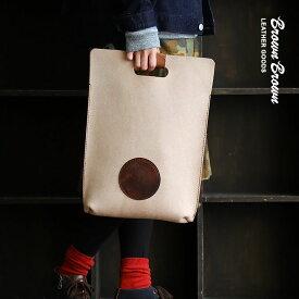 バッグ ハンドルバッグ A4サイズ 栃木レザー社製 牛革 スエード 「Mr.Brown エンボス」 日本製 メンズ レディース 鞄 かばん カバン 40代 50代 | バック ハンドバッグ ハンドバック レザーバッグ 革バック【送料無料】 Brown Brown [ブラウンブラウン]