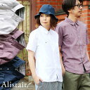 シャツ 半袖 スリムシルエット レギュラーカラー 綿麻 微ストレッチ オックス 涼しい 軽量 薄手 ワンポイント 配色 刺…