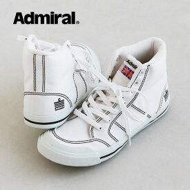 INOMER HIINOMER HI スニーカー シューズ レースアップ スエード キャンバス カジュアル ラウンドトゥ ホワイト レディース 25.0 24.0 23.0【送料無料】 Admiral [アドミラル]