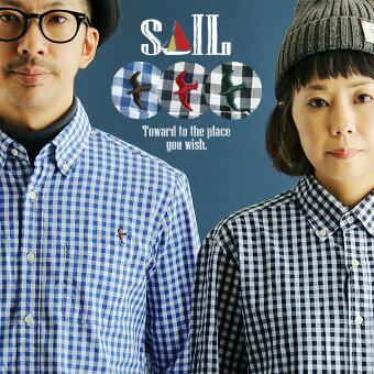 シャツ 長袖 ボタンダウン 国内生産 トップス 日本製 「アイロン要らず ギンガム チェック」 薄手 軽量 コットン 綿100%