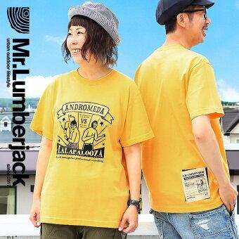 トップス Tシャツ 半袖 ティーシャツ Tee クルーネック マスクマン 前後 プリント