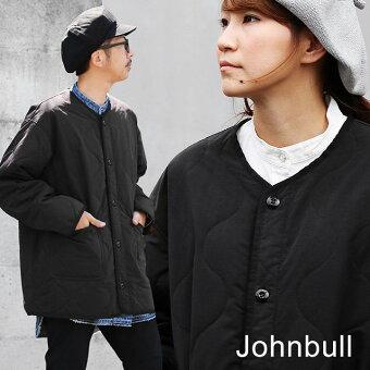 ジョンブル(Johnbull) ジャケット キルティング ライナージャケット ミリタリー ノーカラー 割繊タフタ 撥水 配色切り替え
