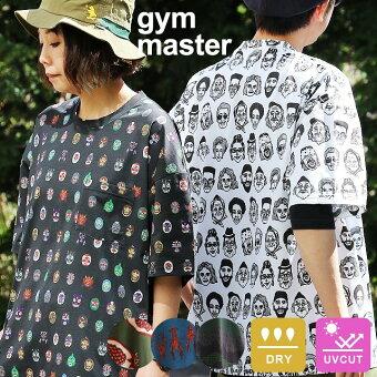 ジムマスター(gymmaster) Tシャツ 半袖 クルーネック ビッグT ゆったり 大きい 総柄 ハッピーペイント 吸水速乾