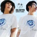 【予約販売】Tシャツ ティーシャツ 半袖 クルーネック 『DEEP IN THE WATER 星 スター プリント』 米綿 天竺 綿100% メンズ レディー…