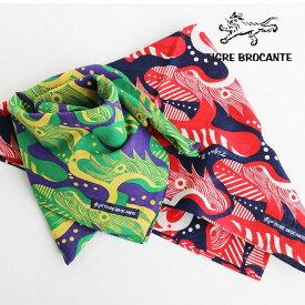 スカーフ ストール ガーゼ 日本製 薄手 涼しい 紫外線 冷房対策 ドラゴン 龍 柄 総柄 大判 大きい Tシャツ カジュアル レディース メンズ ユニセックス TIGRE BROCANTE [ティグルブロカンテ]