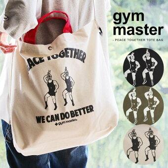 ジムマスター(gymmaster) バッグ トート ショルダー 肩掛け 2WAY 配色 切り替え 覆面 レスラー プリント キャラクター