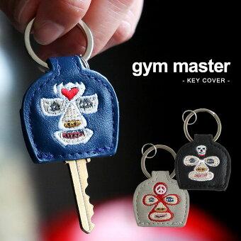 ジムマスター(gymmaster) キーカバー 鍵カバー キーホルダー 覆面 レスラー 合皮 刺しゅう ブルー ブラック グレー