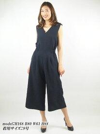 【レンタル】 レンタルドレス サロペットドレス ネイビー 紺 9号 fy16REN07