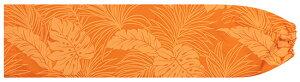 オレンジのパウスカートケース モンステラ・ヤシ総柄 pcase-2022or ★オーダーメイド 【メール便可】