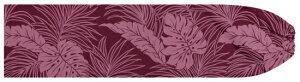紫(あずき色)のパウスカートケース モンステラ・ヤシ総柄 pcase-2022pppi ★オーダーメイド 【メール便可】