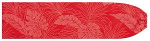 赤のパウスカートケース モンステラ・ヤシ総柄 pcase-2022rd ★オーダーメイド 【メール便可】