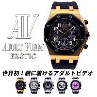 ADULTVIDEOEROTICアダルトビデオエロティック日本製ムーブメントメンズ腕時計金時計銀時計生活防水人気誕生日ギフトおもしろプレゼントジョークグッズパロディ腕時計オマージュウォッチ